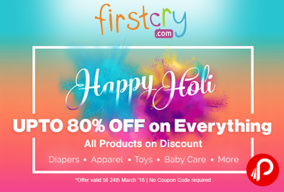Get Upto 80% off on Everything - Firstcry