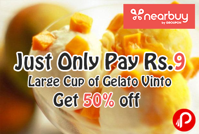 Just Only Pay Rs.9 and Get 50% off Large Cup of Gelato Vinto - Nearbuy