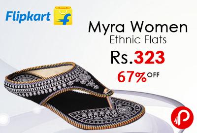 Myra Women Ethnic Flats at Rs.323 - Flipkart