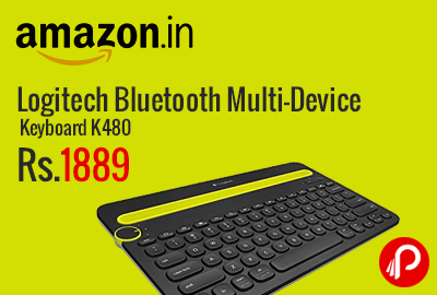 Logitech Bluetooth Multi-Device Keyboard K480 at Rs.1889 - Amazon