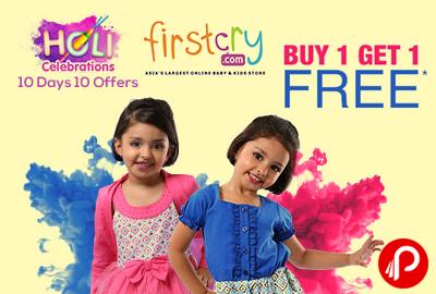 Holi Celebrations Buy 1 Get 1 Free on Biggest Fashion Catalogue - Firstcry