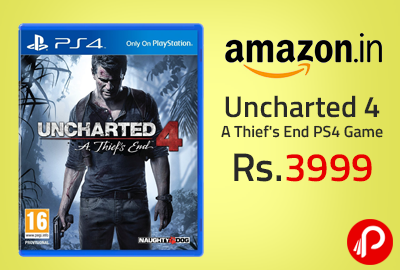 Uncharted 4 A Thief's End PS4 Game at Rs.3999 - Amazon