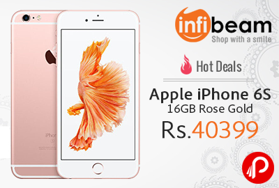 Apple iPhone 6S 16GB Rose Gold at Rs.40399 | Hot Deals - Infibeam
