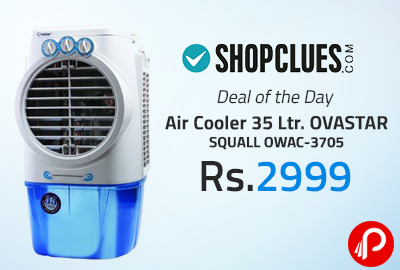 Air Cooler 35 Ltr. OVASTAR SQUALL OWAC-3705 at Rs.2999 - Shopclues