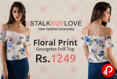 Floral Print Georgette Frill Top at Rs.1249 - StalkBuyLove