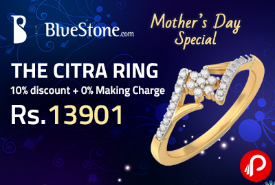 THE CITRA RING at Rs.13901   10% discount + 0% Making Charge - Bluestone