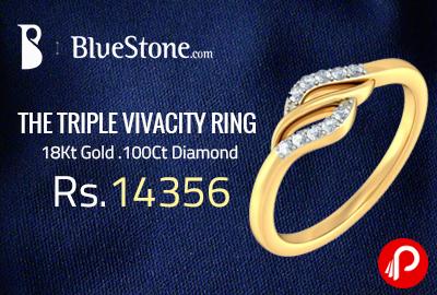THE TRIPLE VIVACITY RING at Rs.14356   18Kt Gold .100Ct Diamond - Bluestone