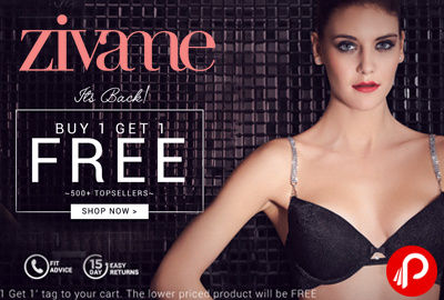 Buy 1 Get 1 Free on 500+ TopSellers Bra - Zivame