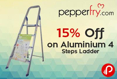 15% off on Aluminium 4 Steps Ladder - Pepperfry