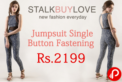 Jumpsuit Single Button Fastening at Rs.2199 - StalkBuyLove