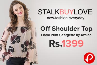Off Shoulder Top Floral Print Georgette by Azalea Just Rs.1399 - StalkBuyLove