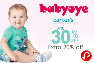 Carter's Apparel Upto 30% Off + Extra 20% Off - BabyOye