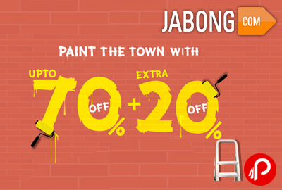 Get Upto 70% off + Extra 20% off on min. Purchase of Rs.1699 - Jabong