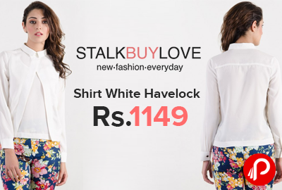 Shirt White Havelock Only in Rs.1149 - StalkBuyLove
