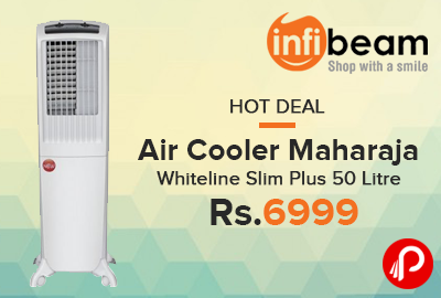 Air Cooler Maharaja Whiteline Slim Plus 50 Litre at Rs.6999 - Infibeam