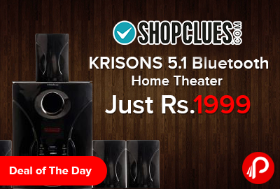 Home Theater Krisons 5.1 Bluetooth Multimedia Just at Rs.1999 - Shopclues