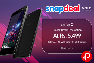 XOLO Era X Mobile 2GB Ram at Rs.5499 - Snapdeal