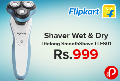 Shaver Wet & Dry Lifelong SmoothShave LLES01 just at Rs.999 - Flipkart