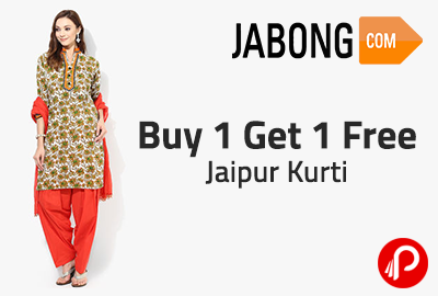 Buy 1 Get 1 Free Jaipur Kurti - Jabong