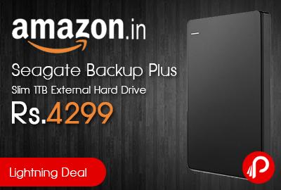 Seagate Backup Plus Slim 1TB External Hard Drive just Rs.4299 - Amazon