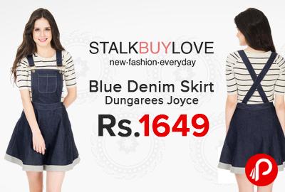Blue Denim Skirt Dungarees Joyce