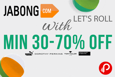 Puma, Dorothy Perkins, Tom Tailor, UCB Min 30% - 70% off - Jabong
