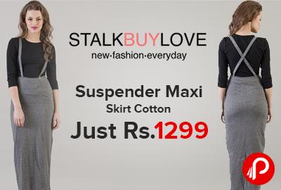 Suspender Maxi Skirt Cotton Just Rs.1299 - StalkBuyLove