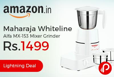 Maharaja Whiteline Alfa MX-153 Mixer Grinder just at Rs.1499 - Amazon