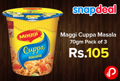Maggi Cuppa Masala 70gm Pack of 3 Only in Rs.105 - Snapdeal