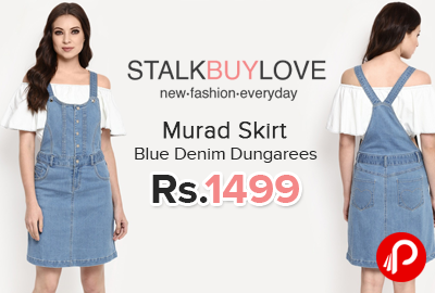 Murad Skirt Blue Denim Dungarees