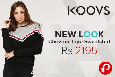 NEW LOOK Chevron Tape Sweatshirt