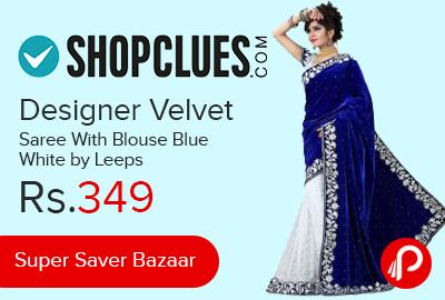 Designer Velvet Saree With Blouse
