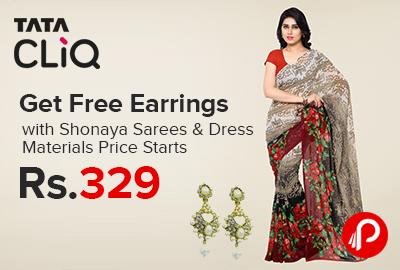 Free Earrings with Shonaya Sarees
