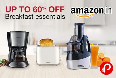 Breakfast Essentials Upto 60% off - Amazon