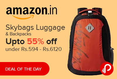 Skybags Luggage & Backpacks Upto 55% off under Rs.594 - Rs.6120 - Amazon