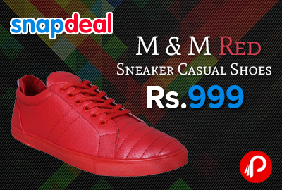 M & M Red Sneaker Casual Shoes