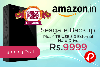 Seagate Backup Plus 4 TB USB 3.0 External Hard Drive
