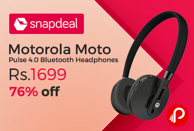 Motorola Moto Pulse 4.0 Bluetooth Headphones
