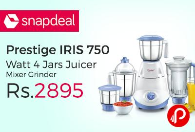 Prestige IRIS 750 Watt 4 Jars Juicer Mixer Grinder