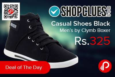 Casual Shoes Black Men's by Clymb Boxer