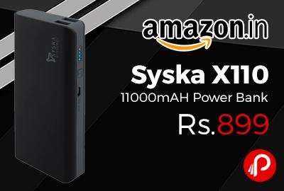 Syska X110 11000mAH Power Bank