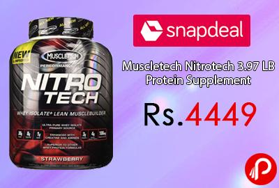 Muscletech Nitrotech 3.97 LB Protein Supplement
