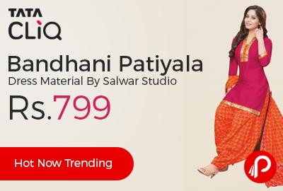 Bandhani Patiyala Dress Material