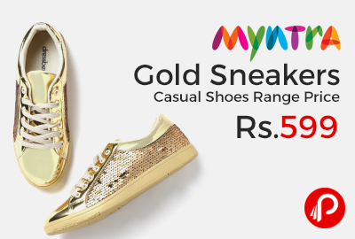 Gold Sneakers Casual Shoes