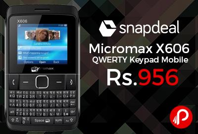 Micromax X606 QWERTY Keypad Mobile