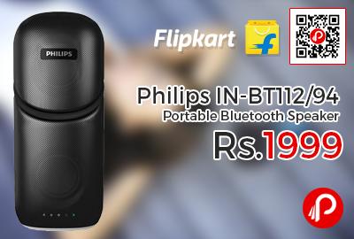 Philips IN-BT112/94 Portable Bluetooth Speaker