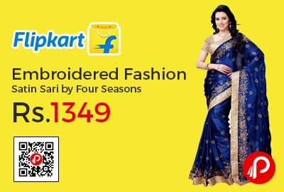 Embroidered Fashion Satin Sari