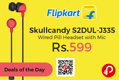 Skullcandy S2DUL-J335 Wired Pill Headset with Mic
