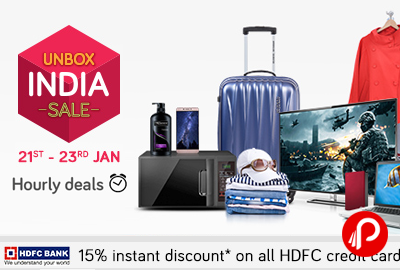 Unbox India Sale Hourly Deals