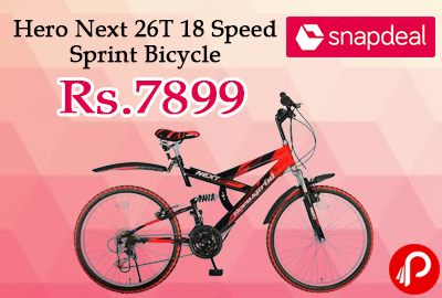 Hero Next 26T 18 Speed Sprint Bicycle